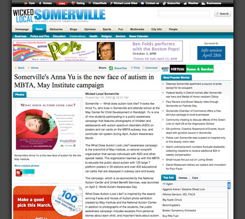 May Institute campaign featured in the Somerville Journal