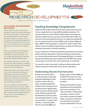Research Developments Newsletter
