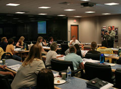 A special education workshop held in May's Distance Learning Center